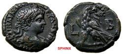 Ancient Coins - 1080LM18) EGYPT, Alexandria. Elagabalus. AD 218-222. BI Tetradrachm (24.5 mm, 13.25 g). Dated RY 2 (AD 218/9). Laureate head   right / Eagle standing left, head right, VF