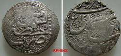 Ancient Coins - 47RC0Z) DURRANI OF AFGHANISTAN, Shah Shuja'a Al-Mulk, 1218-1223 AH / 1803-1808 AD, AR Rupee ( 11.11 grms, 23 mm) Kashmir mint, dated year 1219/ 2, KM # 598,  VF Cond.Toned.