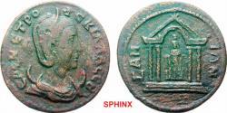 Ancient Coins - 413FFAK19) Rare. ***  IONIAN ISLANDS Samos Herennia Etruscilla, Augusta AD 249-251. Bronze (AE; 29-31mm; 11.52g; 6h) EPEN ETPO-VCKIΛΛA CEB Draped bust with diadem of Herennia Etrus
