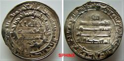 World Coins - 67RL11) THE ABBASID CALIPHATE, THIRD PERIOD, AL-MU'TADID, 279-289 AH/ 892-902 AD, AR DIRHAM STRUCK AT THE MINT OF AL-RAFIQA (RARE) IN 282 AH, LAVOIX ------, TYPE OF ALBUM 242, IN V