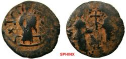 World Coins - 976EL7Z) ZENGID ATABEG OF HALAB (ALEPPO), NUR AL-DIN MAHMUD IBN ZENGI, 541-569 AH / 1146-1174 AD, AE DIRHAM 22 MM, 4.52 GRMS, BYZANTINE STYLE, SS TYPE 73 IN FINE + COND.   Popular
