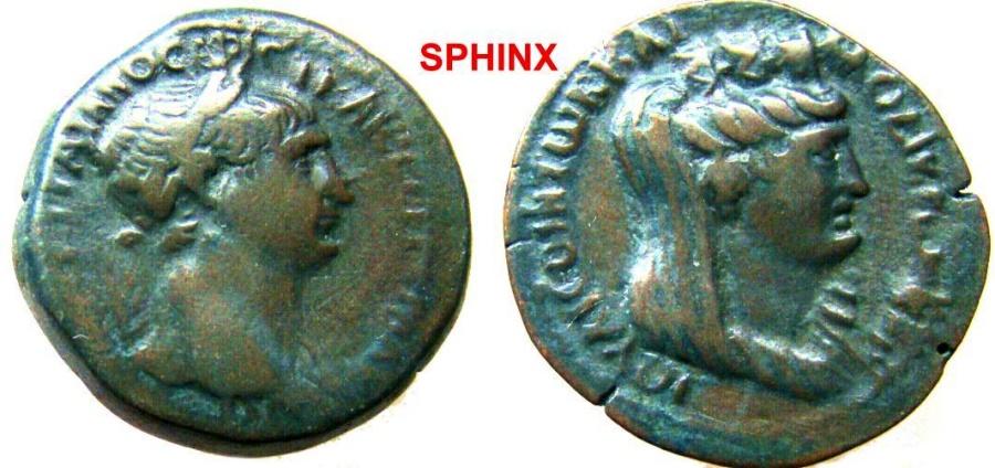 Ancient Coins - 583RR) Seleucis and Pieria. Laodicea ad Mare. Trajan. 98-117 AD. AE 27mm (11.63 g). Laureate bust right, slight drapery on far shoulder / [IOULIEWN] TWN LAODIKEWN , VF