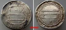 World Coins - 433RK3) THE ABBASID CALIPHATE, FIRST PERIOD : AL-RASHID, HARUN, 170-193 AH / 786-809 AD, AR DIRHAM STRUCK AT THE MINT OF AL-MOHAMADEYYA YEAR 190 AH VF, CALIPH OF 1001 NIGHTS