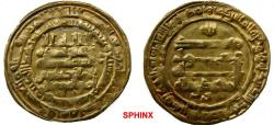 Ancient Coins - 381EBLY1) ABBASID, THIRD PERIOD, AL-MUQTADIR, 295-320 AH / 908-932 AD, GOLD DINAR, 4.82 GRMS, 25 MM,   STRUCK AT MADINAT AL-SALAM, IN 307 AH, LAVOIX -------- 1133 FOR 306,  VF