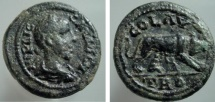 Ancient Coins - 550RR) TROAS, Alexandria Troas. Gallienus. AD 253-268. AE 22mm 7.42 g, 12h). IMP LICI GALLIENVS A (S retrograde), laureate, draped, and cuirassed bust right, seen from behind / She