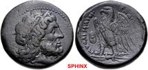 Ancient Coins - 275CCC7Z) PTOLEMAIC KINGS of EGYPT. Ptolemy II Philadelphos. 285-246 BC. AE (26mm, 17.60 g, 12h). Uncertain Ptolemaic mint in Sicily. Struck circa 269-264 BC. Laureate head of Zeus