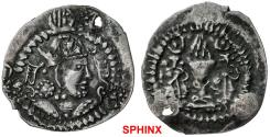 Ancient Coins - 116MH19) VERY RARE & Ex William F. Spengler collection : SOGDIANA: Anonymous, late 7th Century, AR drachm (2.54g), Chaghanian region, Rtveladze-45, Khusraw I type,