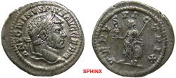 Ancient Coins - 289FR0Z) Caracalla. AD 198-217. AR Denarius (19.5 mm, 2.89 grms). Rome mint. Struck AD 215-217. Laureate head right / Venus Victrix standing left, holding Victory and scepter, lean