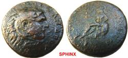 Ancient Coins - 789HM3) Macedonia (in general) Quasi-autonomous issue contemporary with Philip I, 244-249 AD, AE 26.5 mm, 15.41 grms, Obv. Alex III portrait right, Rev. Pallas Nikephorus seated le