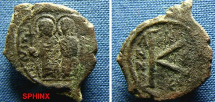 Coins: Ancient Byzantine Empire Justin Half Follis Sophia Thessalonica Ae 21 Nice Coin Byzantine (300-1400 Ad)