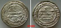 World Coins - 433RK7X) 'ABBASID CALIPHATE, Second Period, AL MU'TASIM BILLAH, 218-227 AH / 833-842 AD, (Abu Ishaq Muhammad b. Al-Rashid), AR dirham struck at MARW in the year 220 AH, aVF