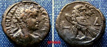 Ancient Coins - 602GE9) EGYPT, Alexandria. Severus Alexander. 222-235 AD. BI Tetradrachm (21 mm, 13.12 gm). Dated RY 4 (226/227 AD). Laureate, draped bust right, seen from behind / Eagle standing