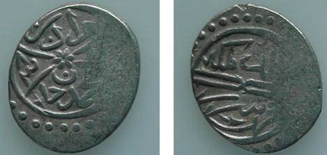 Ancient Coins - 436ARSLM) OTTOMAN, MURAD II, 824-848 AH / 1421-1444 AD, SILVER AKCE, THIRD SERIES DATED 834 AND STRUCK AT SEREZ, ALBUM # 1302.3, VF COND.