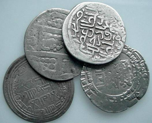 Ancient Coins - ISLBGN6) STUDY GROUP CONSISTING OF 4 ISLAMIC COINS; OBVIOUSLY WITH SOME IMPERFECTIONS BUT GENERALLY COLLECTABLE; SOLD AS IS NO RETURN; THIS GROUP CONSISTS OF :