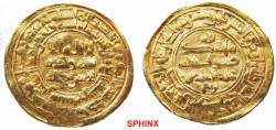 World Coins - 640RHR0Z) Samanid dynasty; Abdel Malek I ibn Nuh II, 343-350 AH / 954-961 AD, Gold dinar, 4.23 grms, 23 mm, struck at Nishapur in AH 344, A-1460, without the name of any caliph, sl