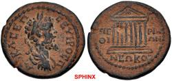 Ancient Coins - 270MG19) VERY RARE !! THRACE, Perinthus. Septimius Severus. AD 193-211. Æ (19 mm, 3.67 g, 7h). AV K Λ CEΠ CEYHPOC Π, laureate, draped, and cuirassed bust right /