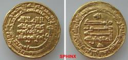 Ancient Coins - 446RLH19) ABBASID, THIRD PERIOD, AL-MUQTADIR, 295-320 AH / 908-932 AD, GOLD DINAR, 4.05 GRMS, 22 MM, STRUCK AT AL-MUHAMADEYYA (present day Teheran), IN 312 AH, LAVOIX -------- 1133