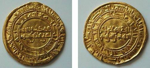 Ancient Coins - FATIMID CALIPHATE OF EGYPT, AL-ZAHIR, 411-427 AH / 1021-1036 AD, GOLD DINAR 4.13 GRAMS MINTED AT MISR IN 416 AH, TYPE OF ALBUM # 714, MILES # 217, BN 243, IN VF+ CONDITION aXF.