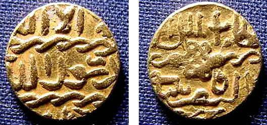 Ancient Coins - MAMELUK SULTANS, QAYTBAY, GOLD SULTANI 3.42 GRMS VF