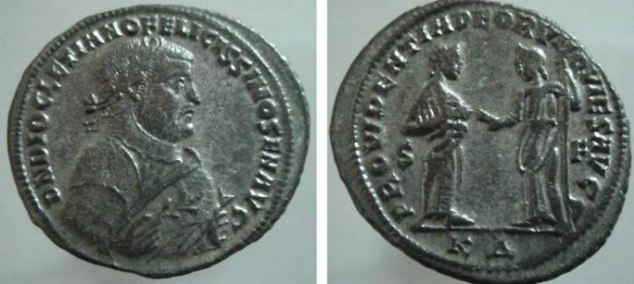 Ancient Coins - 566GG) Diocletian, AE Follis - Retirement Issue, Cyzicus, Officina 4, AE Follis, 29MM, 8.73 GRMS, c. Early 307 AD, Group III, Class II, Cyzicus, Officina 4, Obv.D N DIOCLETIANO FEL