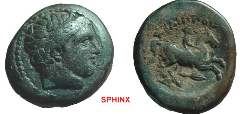 Ancient Coins - 280GG8) MACEDONIAN KINGDOM, PHILIP II. 359-336 B.C. AE 18 mm, 6.98 grms, Diademed head of Apollo right / Youth on horseback riding right, ΒΑΣΙΛΕΩ ΦΙΛΙΡΟΥ, spear below horse. VF