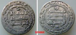 World Coins - 301RL3) THE ABBASID CALIPHATE, THIRD PERIOD, AL-RADI BILLAH, 322-329 AH / 934-940 AD, AR DIRHAM STRUCK AT THE MINT OF MADINAT AL SALAM (PRESENT DAY BAGHDAD) IN THE YEAR 326 AH;  VF