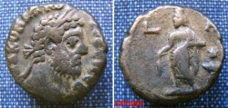 Ancient Coins - 619GE9) ROMAN EGYPT, ALEXANDRIA, COMMODUS, 180-192 AD, AE TETRADRACHM,23 MM, 11.93 GRAMS, REV. SARAPIS AS FOUNTAIN GOD STANDING LEFT,  DATE ABOVE L D, CURTIS 850, BMC 1422, IN VF C