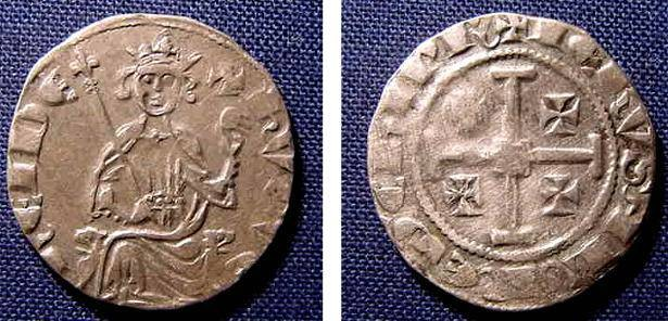 Ancient Coins - CRUSADERS OF CYPRUS, HUGH IV, 1324-1359, AR GROS, 4.35 GRMS NICE VF