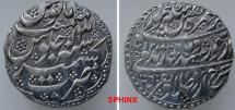 World Coins - 121RE7X) DURRANI, TAIMUR SHAH, 1186-1207 AH / 1772-1793 AD, AR RUPEE, 11.07 grms, 24 mm, struck at KASHMIR dated 1200/13, Type K563, dotted border in high relief; superb XF.