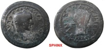 Ancient Coins - 581HM3) CILICIA, Anazarbus. Severus Alexander. 222-235 AD. Æ 24 mm (8.87 g). Dated CY 248 (229/30 AD). Laureate head right / Sheaf of five grain-ears; ETH MC (date) in exergue). VF