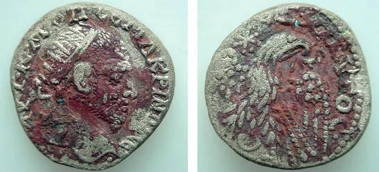 Ancient Coins - 823RLS) SYRO-PHOENICIAN ROMAN TETRADRACHM, MACRINUS, 21-218 AD,  PRIEUR # 835. CONDITION FAIR-FINE