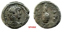Ancient Coins - 467GB) EGYPT, Alexandria. Hadrian. 117-138 AD. Billon Tetradrachm (25mm, 11.36 gm). Dated RY 10 (125/126 AD). Laureate, draped and cuirassed bust right, seen from behind / VF