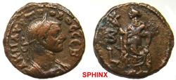 Ancient Coins - 53CG6) EGYPT, Alexandria. Probus. AD 276-282. BI Tetradrachm (20 mm, 7.45 g, 12h). Dated RY 2 (AD 276/7). Laureate, draped, and cuirassed bust right / Elpis standing left, lifting
