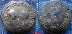 Ancient Coins - 412RM00) MOESIA INFERIOR, Marcianopolis. Elagabalus, with Julia Maesa. AD 217-218. Æ Pentassarion (27.5 mm, 13.57 g). Laureate head of Elagabalus right vis à vis diademed and drape