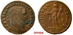 Ancient Coins - 583RF0Z) Maximinus II (308-310 AD.), AE Follis, 24 mm, 6.39 grms, Alexandria mint, Obverse: GAL VAL MAXIMINVS NOB CAES, Laureate head right. Reverse: GENIO CA-ESARIS, Genius standi
