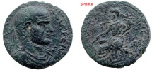 Ancient Coins - 783FG8) SYRIA, Seleucis and Pieria. Gabala. MACRINUS, 217-218 AD, AE 24.5 mm, 9.68 grms, Obv. Laureate head of Macrinus right, rev. Tyche wearing chiton, peplos and modius, FINE