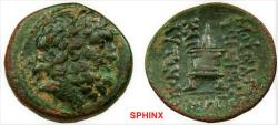 Ancient Coins - 469RC9X) CILICIA. Mopsuestia-Mopsos. 2nd Century BC-Imperial Times. Æ 23 mm (7.48 g). Laureate head of Zeus right / Lighted altar on two feet. SNG Levante 1309; SNG France 1942. aV