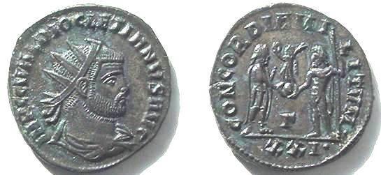 Ancient Coins - 640ROM) DIOCLETIAN, 284-305 AD, AE ANTONINIANUS, REV CONCORDIA MILITVM; VF+
