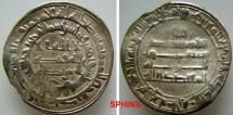 World Coins - 67RL11) THE ABBASID CALIPHATE, THIRD PERIOD, AL-MU'TADID, 279-289 AH/ 892-902 AD, AR DIRHAM STRUCK AT THE MINT OF AL-RAFIQA (RARE) IN 282 AH, LAVOIX ------, TYPE OF ALBUM 242,  VF