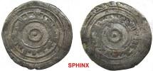 World Coins - 83GL6) Islamic silver fraction of the Fatimid AL'AZIZ, 3365-386 AH  AH/ 975-996 AD AD; AR HALF DIRHAM, NM ND, weight 1.4   grams. 18.5 mm Album 705 (1/2 dirham). MWI 548-550,Scarce