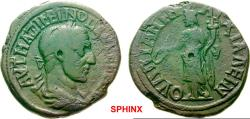 Ancient Coins - 7AK8FM) THRACE Anchialos Maximinus I AD 235-238. Bronze (AE; 25-26mm; 12.59g; 12h) AVT MAΞIMEINOC [ ] (partly ligate) Laureate   and draped bust of Maximinus to right. RARE