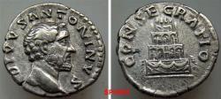 Ancient Coins - 81GC9X) Divus Antoninus Pius. Died AD 161. AR Denarius (18 mm, 3.43 g). Commemorative issue. Rome mint. Struck under Marcus Aurelius and Lucius Verus, AD 161. DIVVS ANTONINVS, bare