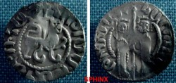 World Coins - 7GK8) CILICIAN ARMENIA, HETOUM I AND ZABEL, 1226-1271 AD, AR TRAM, OBV. ZABEL & HETOUM; REV. LION AND CROSS; BEDOUKIAN # 942; NERCESSIAN 334/5, VF.