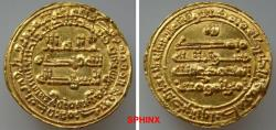 World Coins - 591ECC19)  'Abbasid Caliphate. Yemeni coinage; Al-Mu'tamid 'Ala Allah, 256-279 AH/ 870-892 AD. AV Dinar (20 mm, 2.95 g). San'a mint. Dated AH 278 AH . citing caliph  VF+