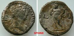 Ancient Coins - 956GL18) Alexandria, Egypt, Hadrian (117-118 AD), BI Tetradrachm, 24 mm, 11.15 grms, Year 2; Obverse: ΑΥΤ ΚΑΙС [ΤΡΑΙΑΝ] ΑΔΡΙΑ[ΝΟ]С СЄΒ, Laureate head right.Reverse: LB, Harpocrates