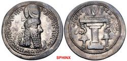 "Ancient Coins - 202RFH0Z) SASANIAN KINGS. Ardaxšīr (Ardashir) I. AD 223/4-240. AR Drachm (28mm, 4.35 g, 9h). Mint C (Ctesiphon""). Phase 3, circa AD 233/4-238/9. Bust right, wearing diadem (type R)"