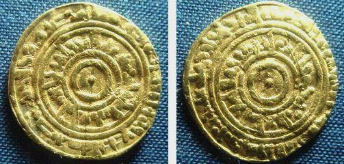 Ancient Coins - 812MOZ) FATIMID, AL-AZIZ, 365-386 AH / 975-996 AD, GOLD DINAR, 3.93 GRMS, STRUCK AT MISR (PRESENT DAY CAIRO, IN 384 AH, ALBUMTYPE # 703, KHEDIVIAL LIBRARY # 1031, MILES 106, IN VF