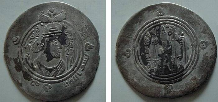 Ancient Coins - 8050) ARAB-SASANIAN AL-MUHALLAB B ABI SUFRA