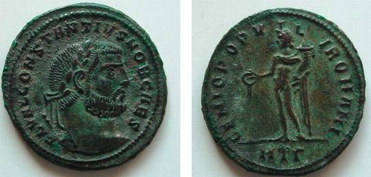 Ancient Coins - 642ROM)CONSTANTIUS AS CAESAR SUPERB LARGE FOLLIS