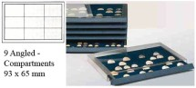 Ancient Coins - Stackable Coin Drawer - 9 Angled Compartments